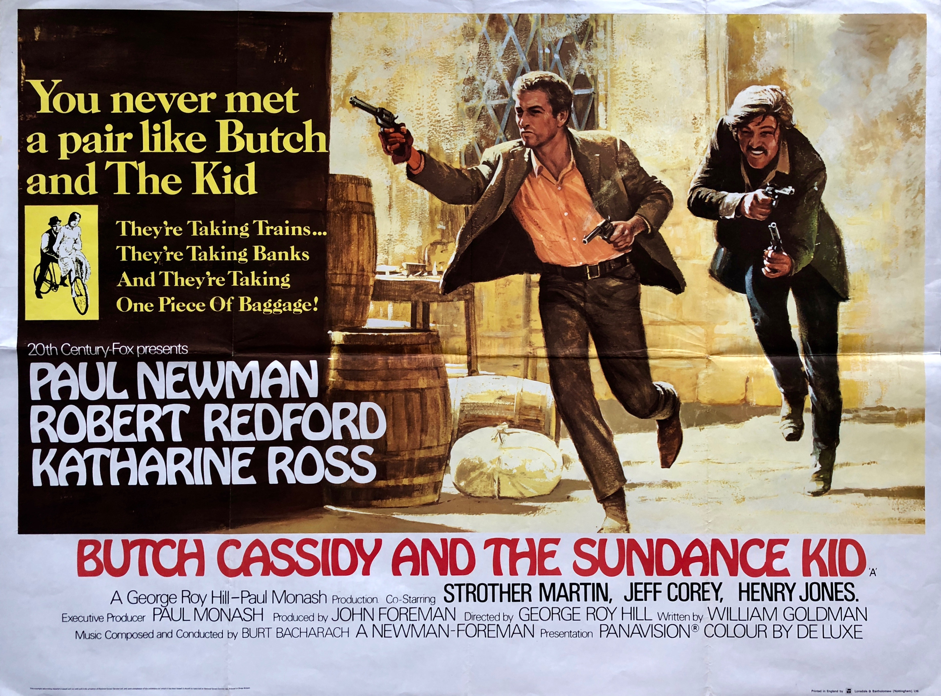 Original Butch Cassidy and the Sundance Kid - Western - Paul Newman