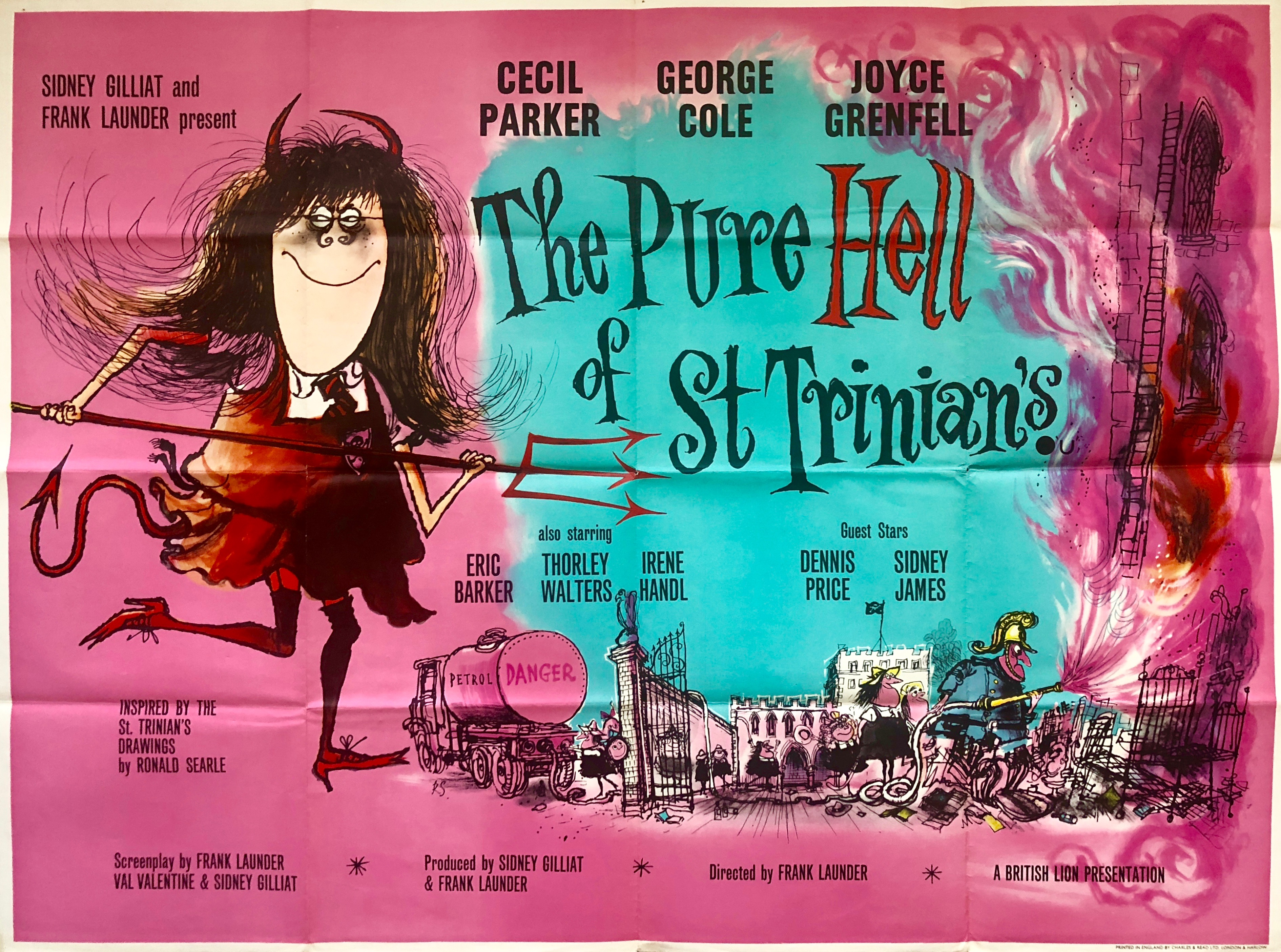 Original The Pure Hell of St. Trinian's Movie Poster - Ronald ...