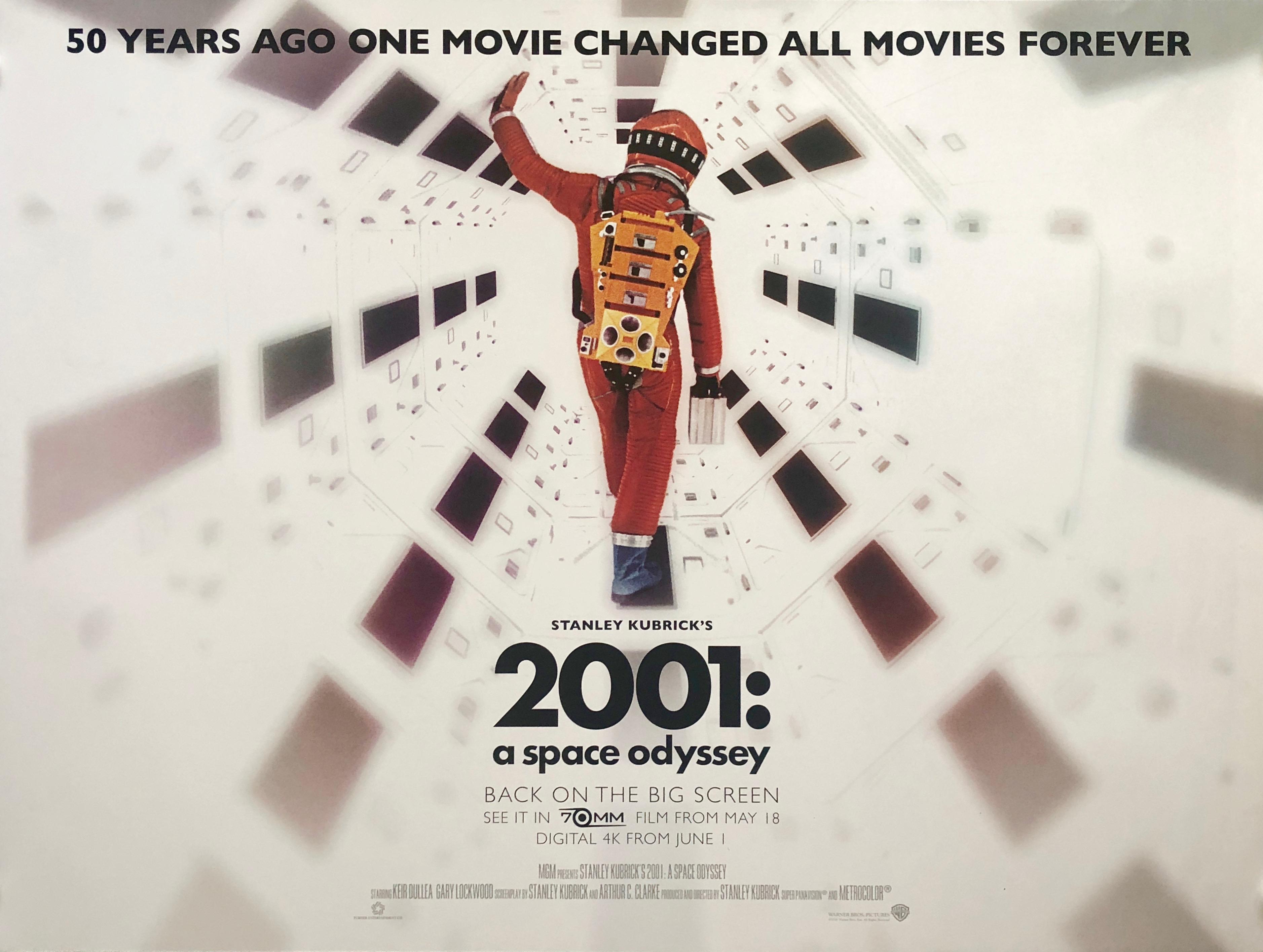 Movie poster HAL 9000 2001 A Space Odyssey colour print home decor no frame