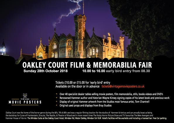 Oakley Court Film & Memorabilia Fair - Hammer Films - Amicus - Original Vintage Film Movie Posters - Movie Memorabilia - Tom Chantrell - Wayne Kinsey