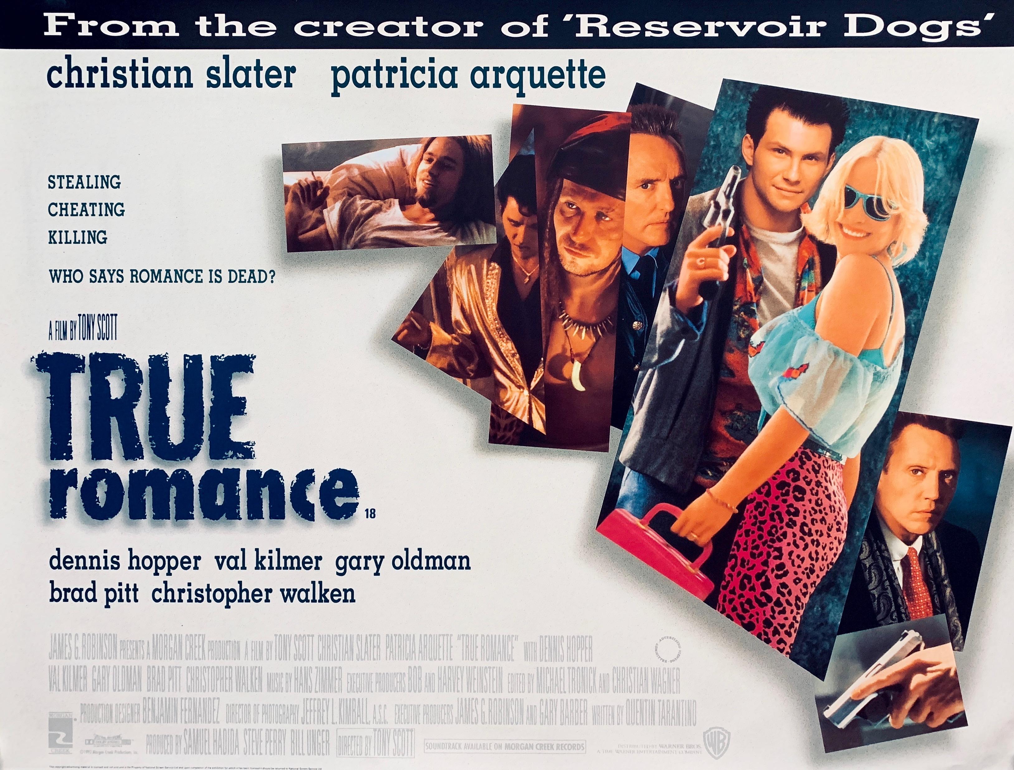 Original True Romance Movie Poster - Crime - Thriller - Christian ...