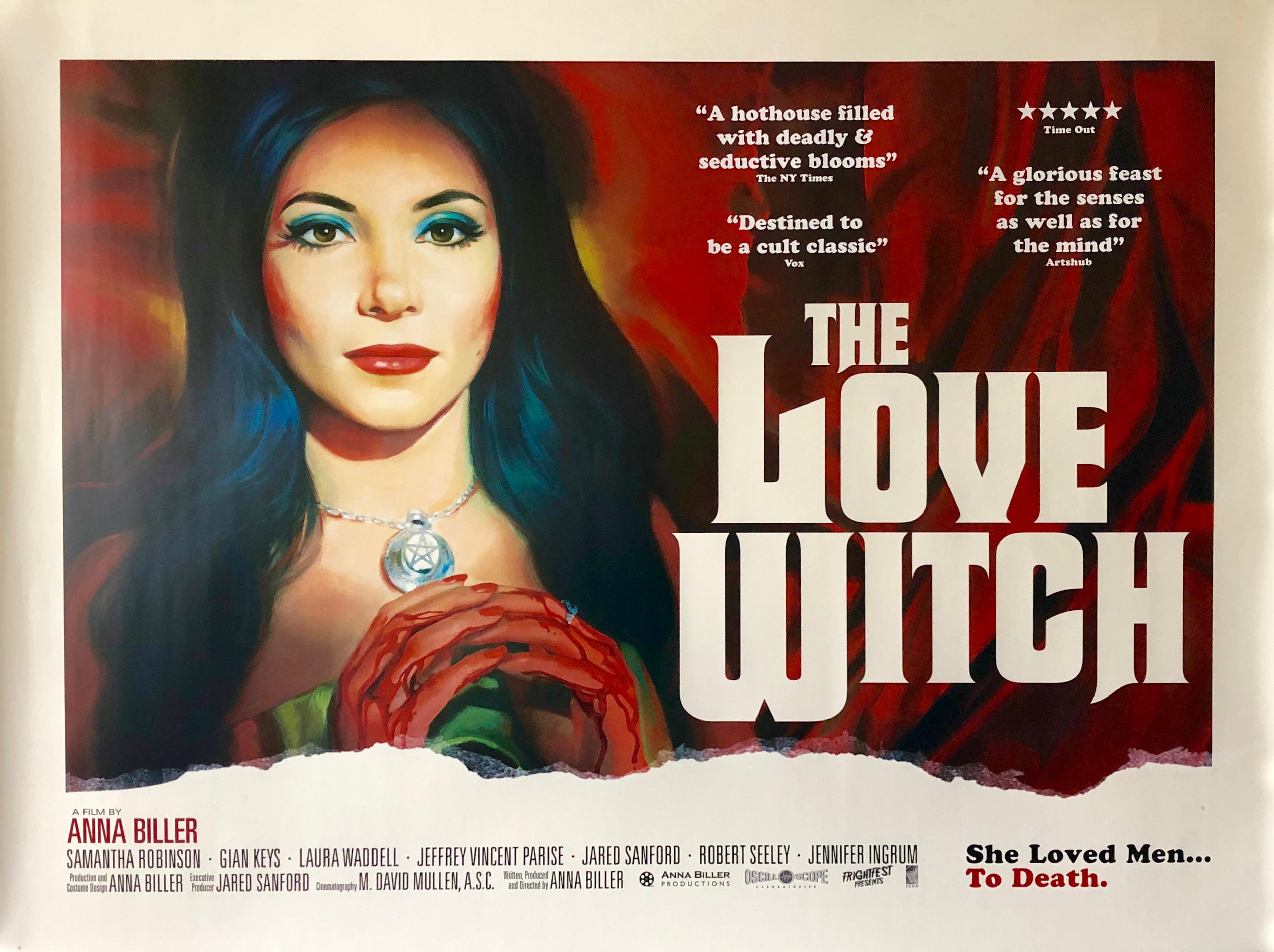 Original The Love Witch Movie Poster - Anna Biller - Samantha Robinson -  Horror
