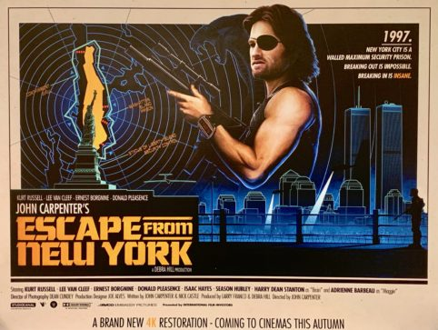 Escape From New York Poster.Original Escape From New York Movie Poster John Carpenter