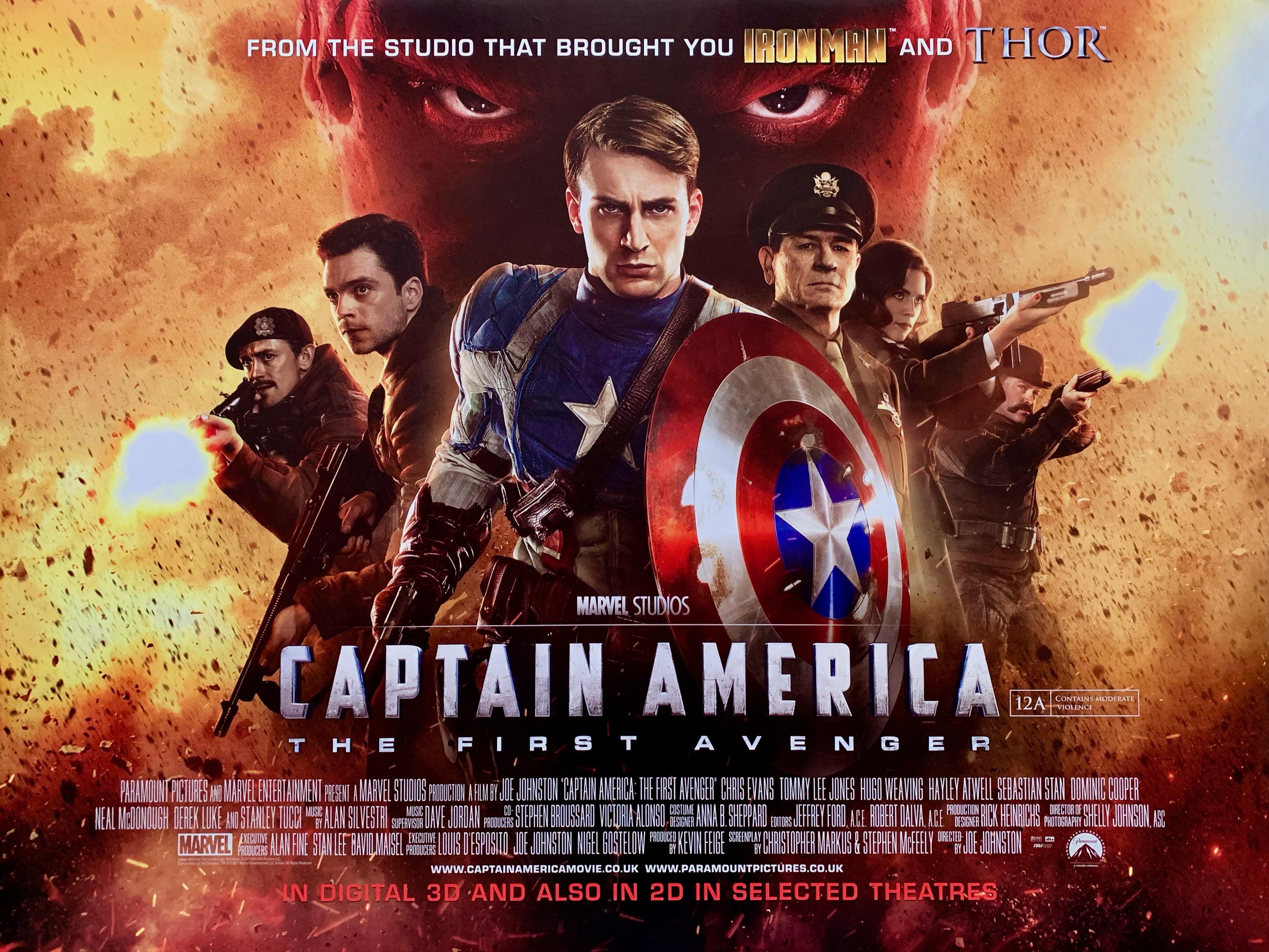 Captain America: The First Avenger Movie Poster - Super Hero - Marvel