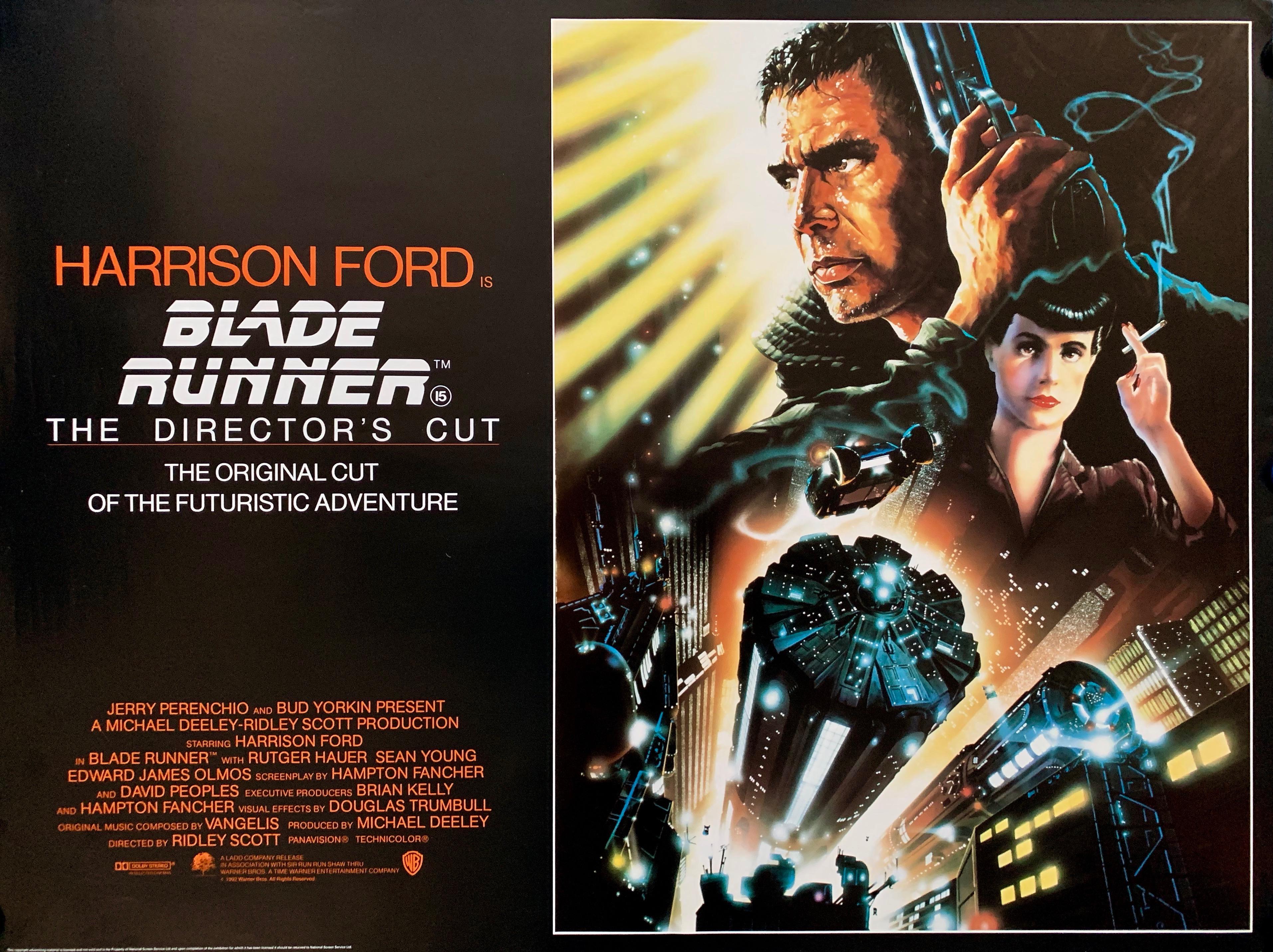 Original Blade Runner: The Director's Cut Movie Poster - Ridley Scott