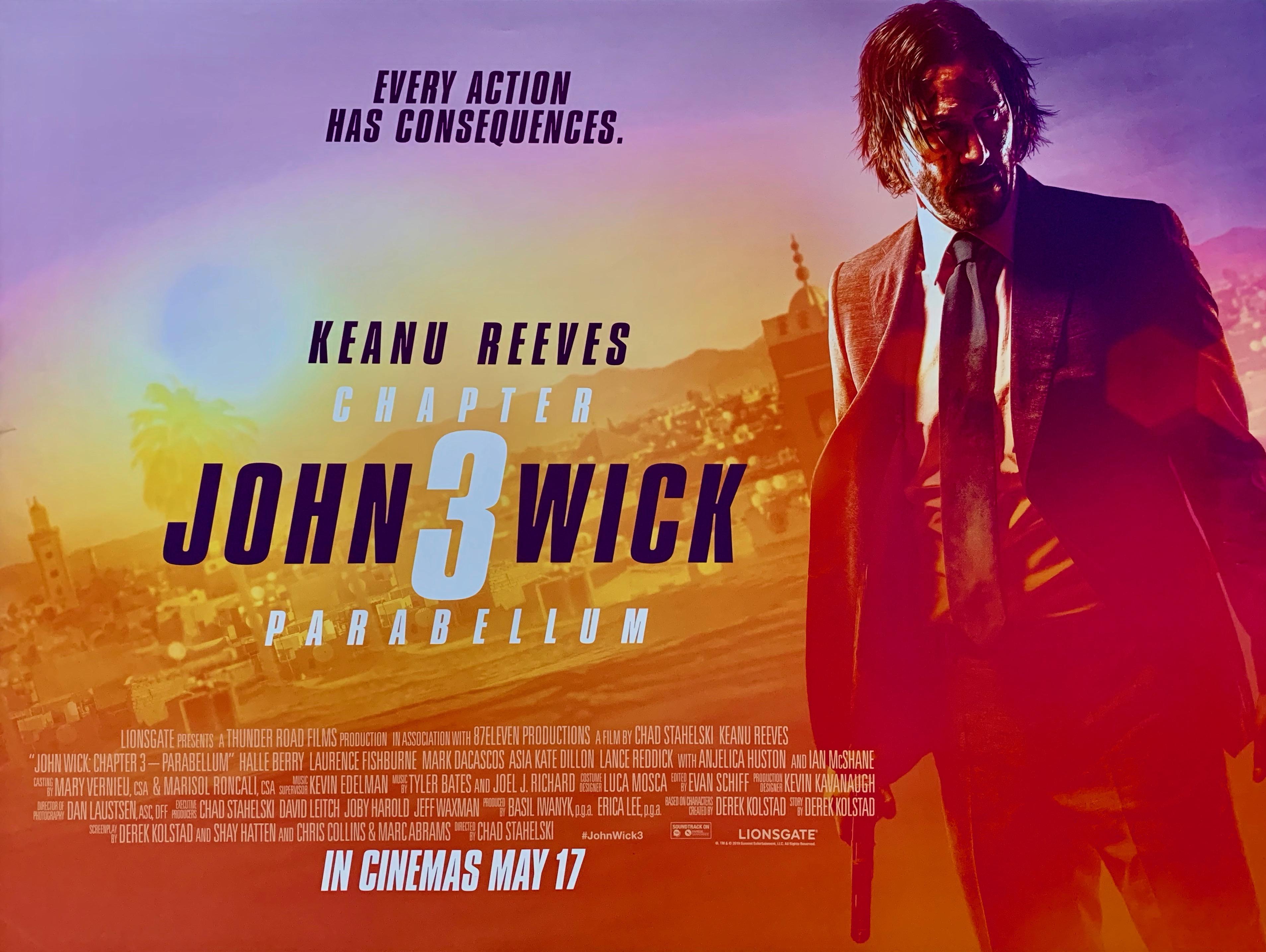 Original John Wick: Chapter 3 - Parabellum Movie Poster - Keanu Reeves