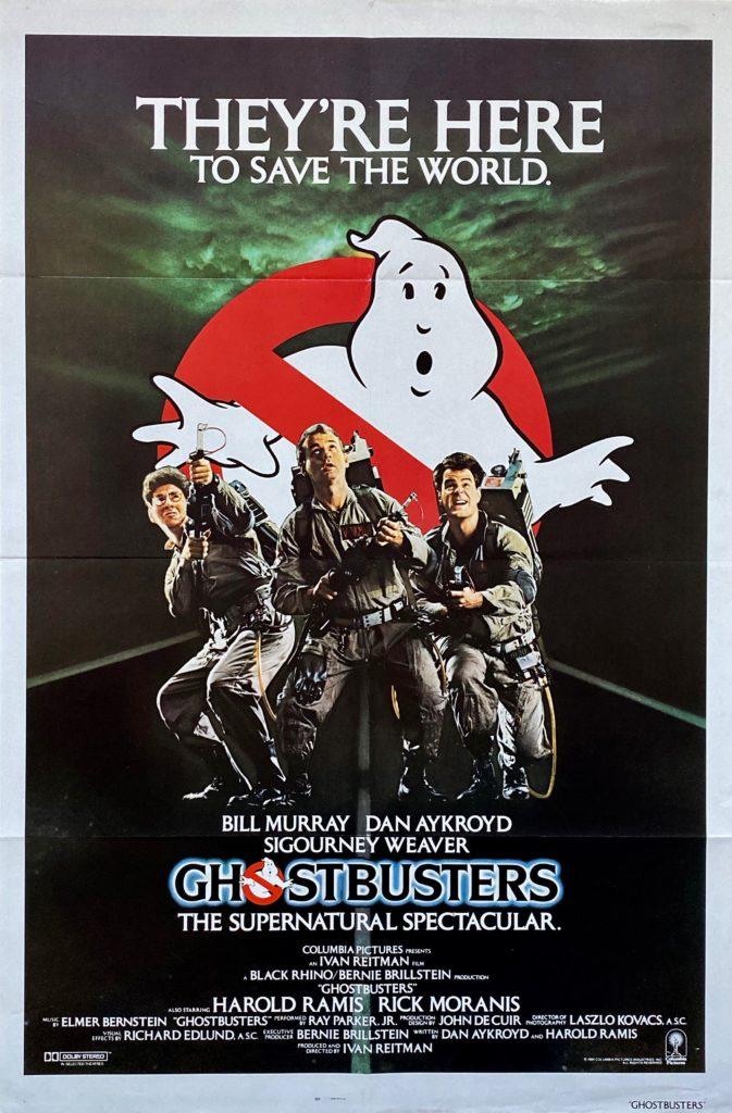 Original Ghostbusters Movie Poster Bill Murray Ivan Reitman Comedy