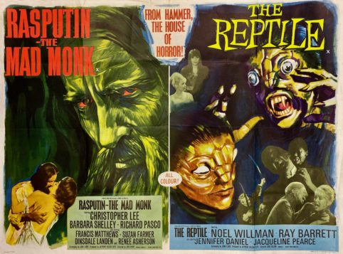 Rasputin-the-Mad-Monk-/-The-Reptile-Movie-Poster