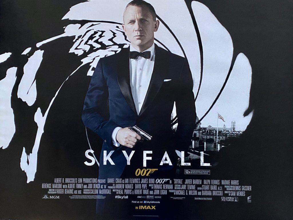Original James Bond: Skyfall Movie Poster - 007 - Daniel Craig