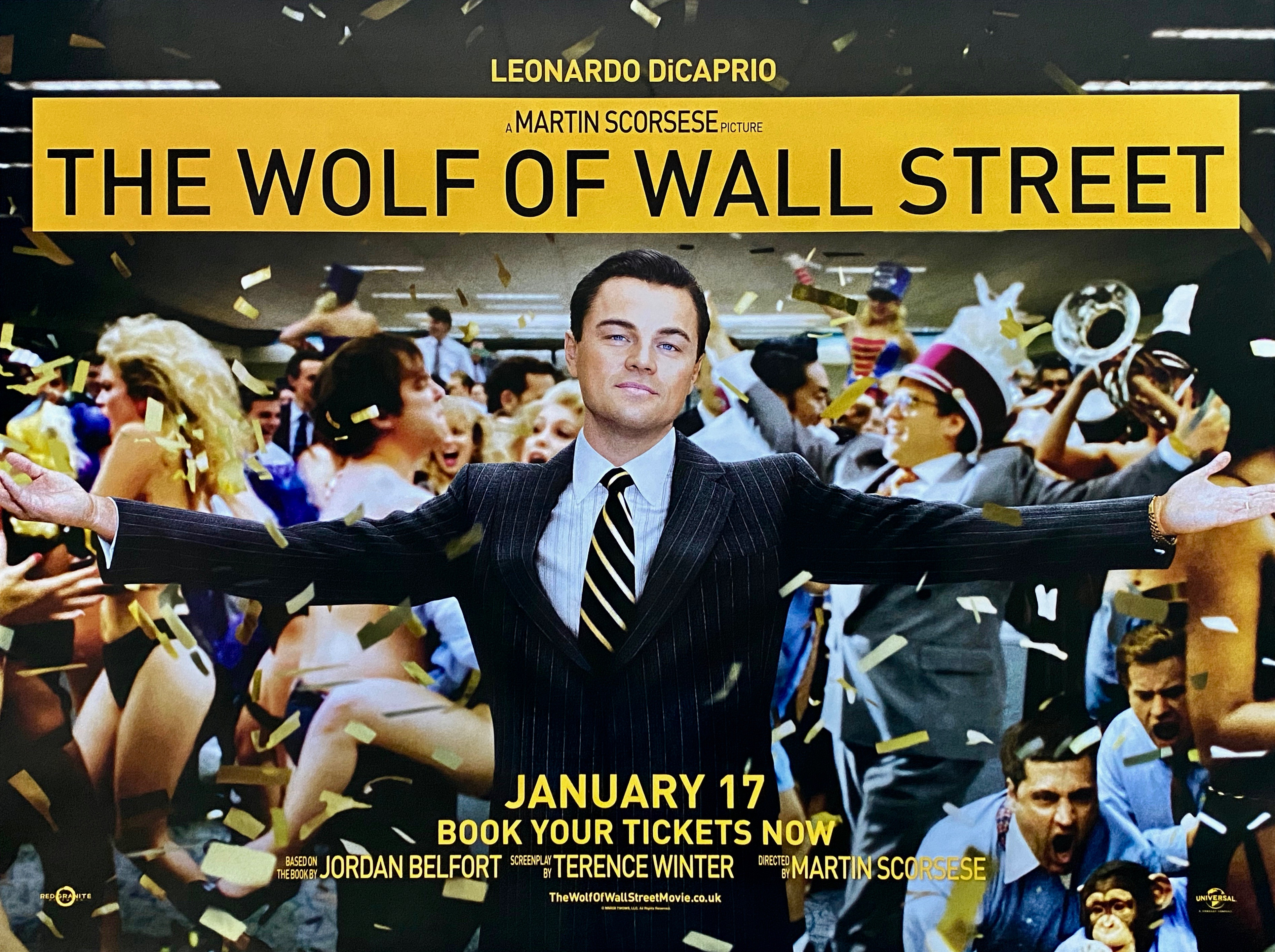 Original The Wolf of Wall Street Movie Poster - Leonardo DiCaprio