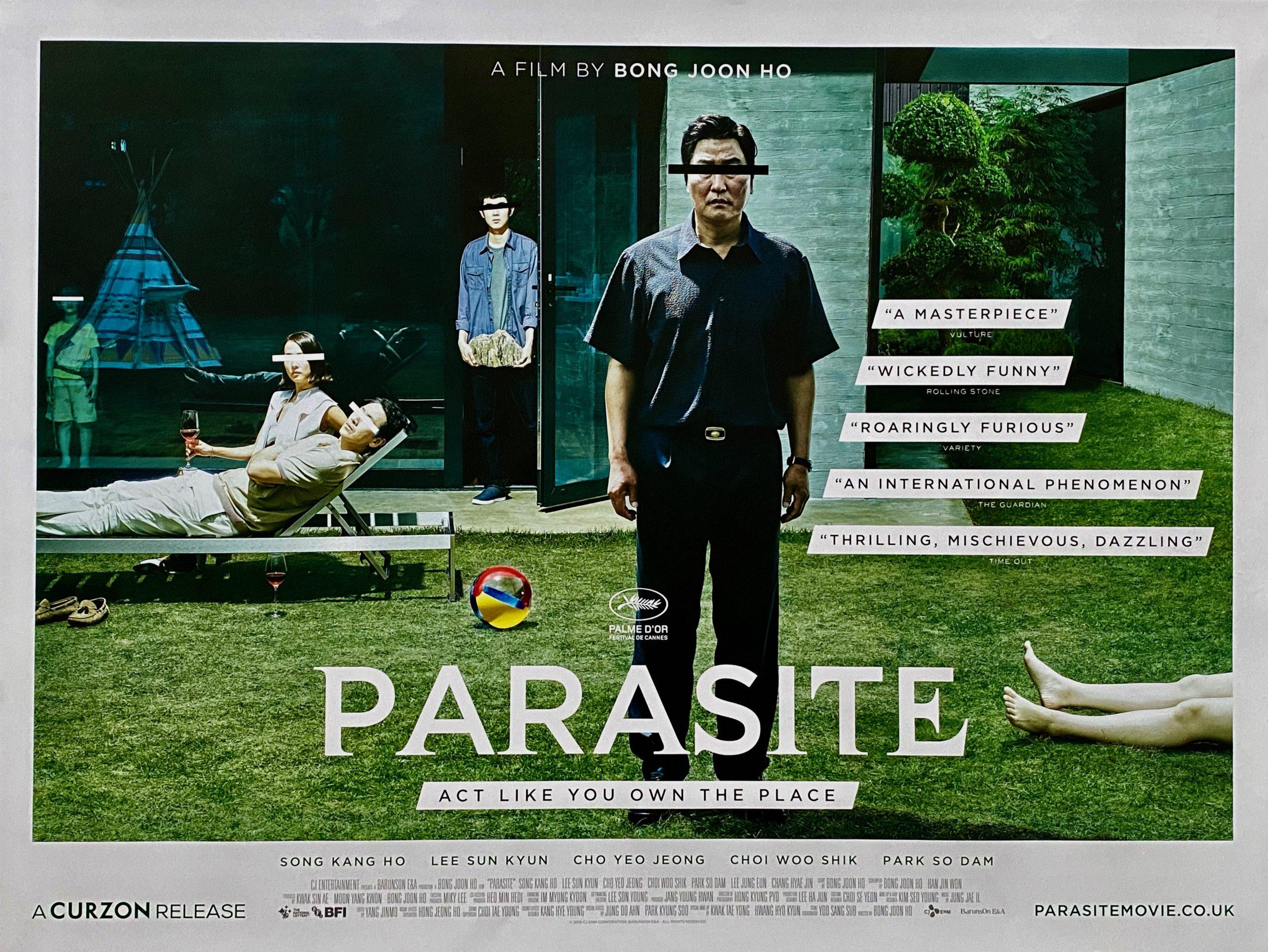 Original Parasite Movie Poster - Bong Joon Ho - Oscar Winner