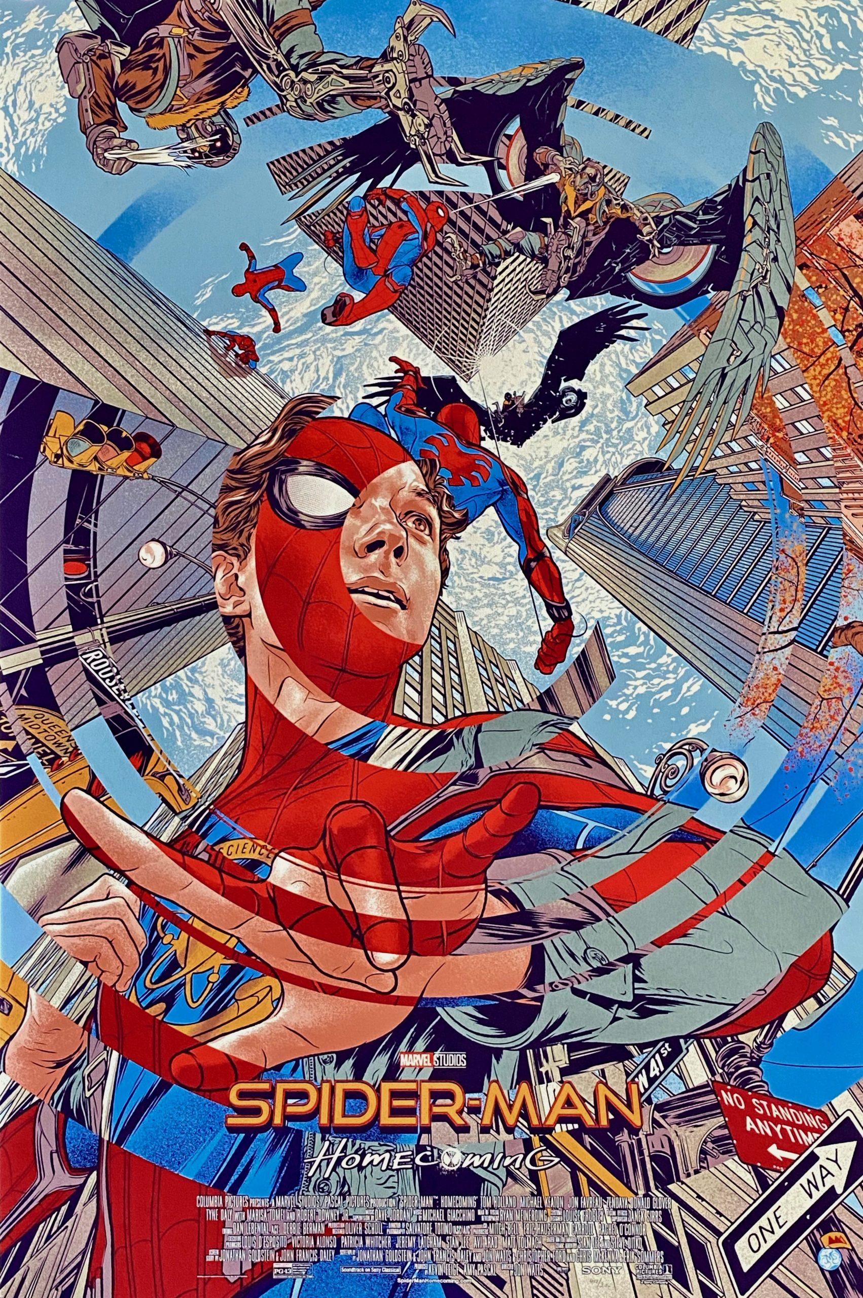 Original Spider Man Homecoming Movie Poster Tom Holland Mondo