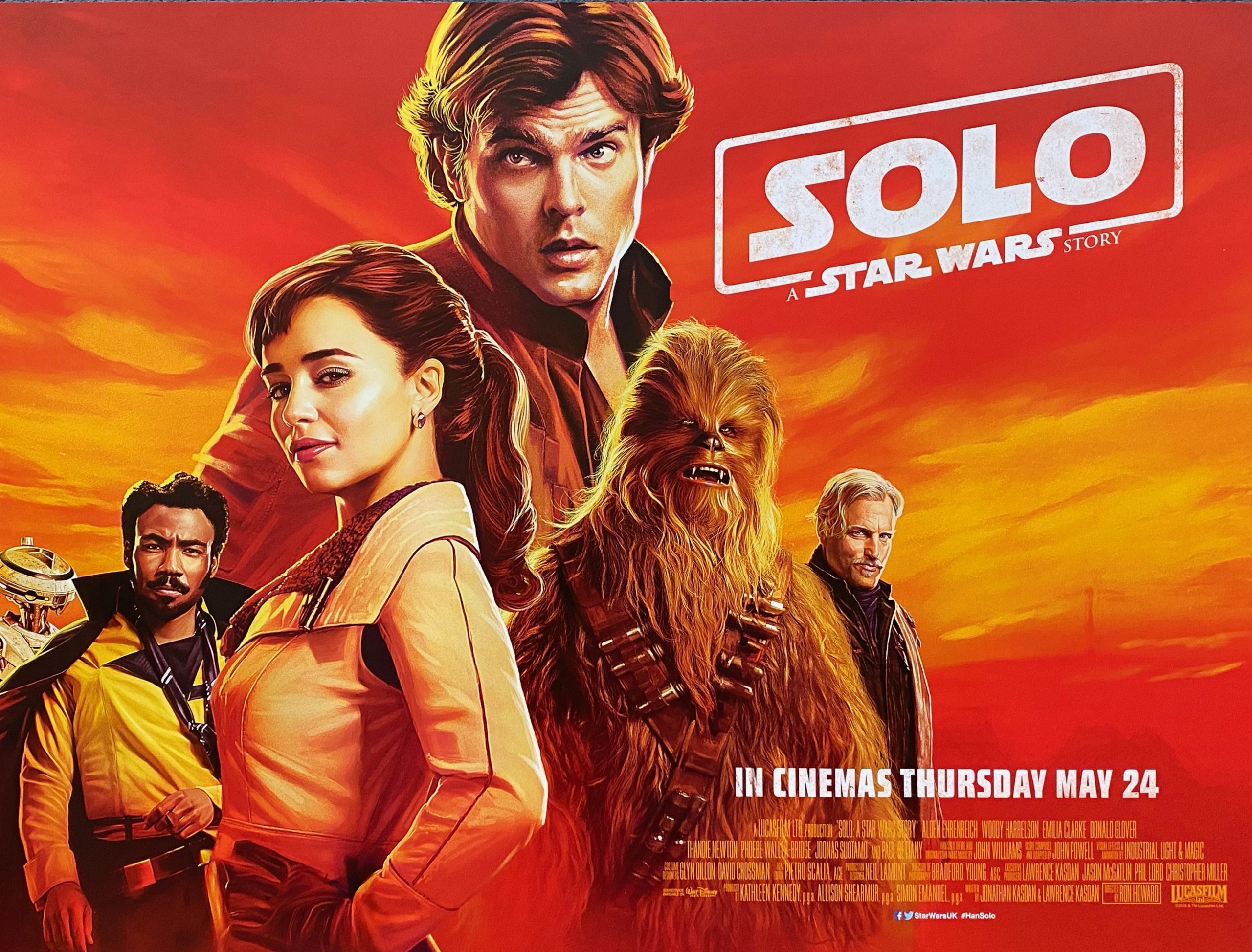 Original Solo: A Star Wars Story Movie Poster - Han Solo - Chewbacca