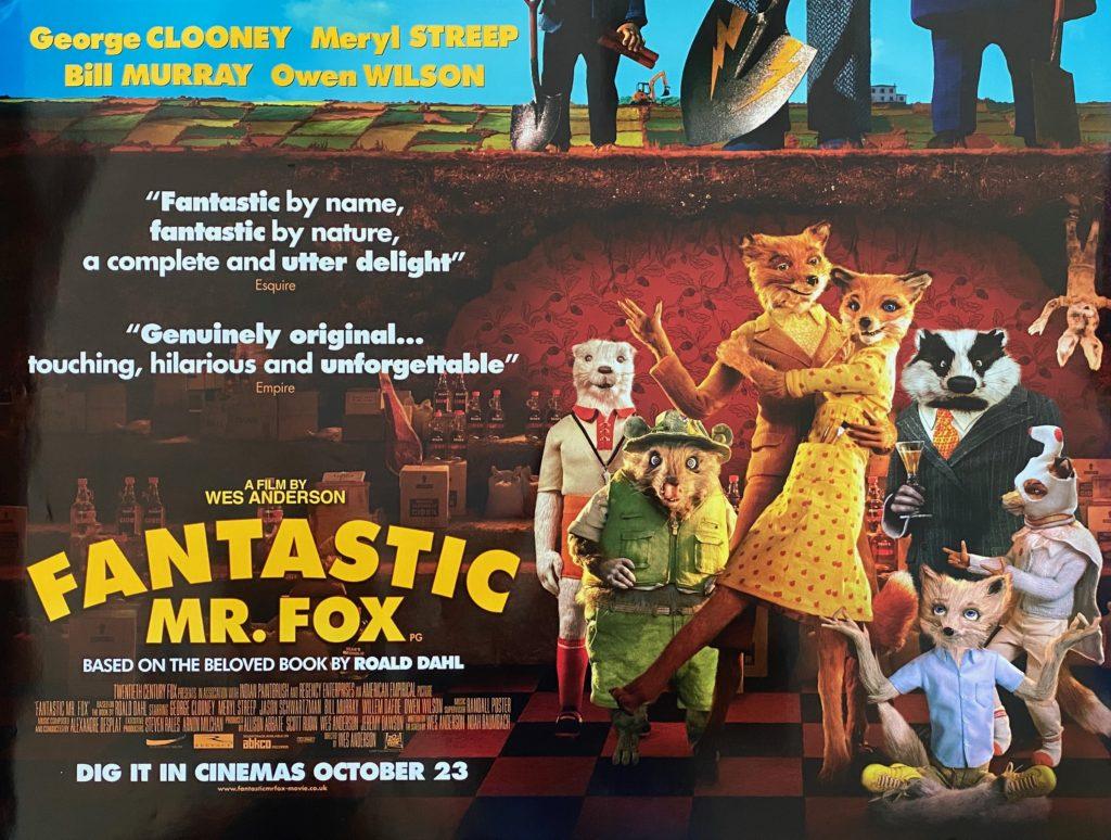 Original Fantastic Mr Fox Movie Poster Wes Anderson