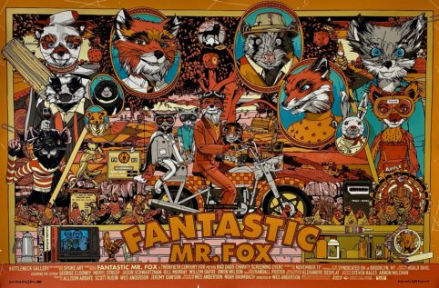 Original Fantastic Mr Fox Movie Poster Wes Anderson Tyler Stout