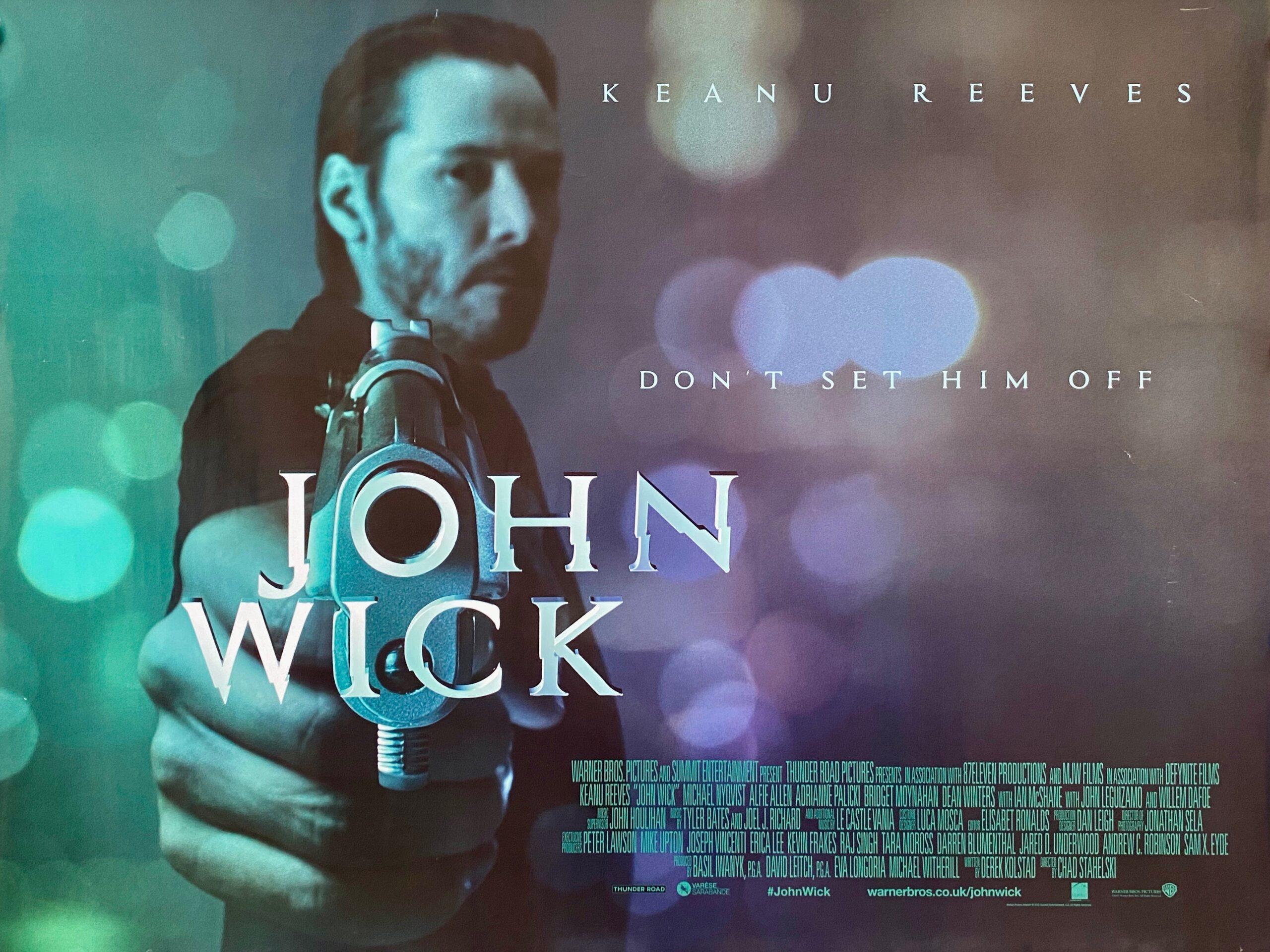 Original John Wick Movie Poster Keanu Reeves Chad Stahelski