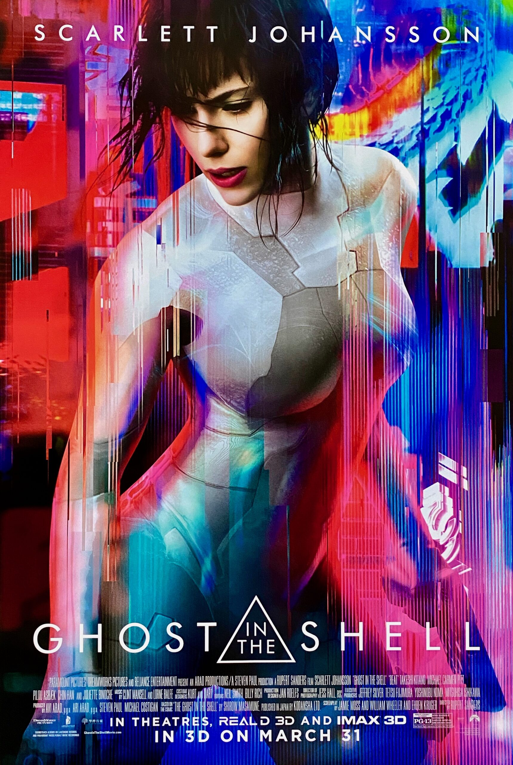 Original Ghost In The Shell Movie Poster Anime Scarlett Johansson