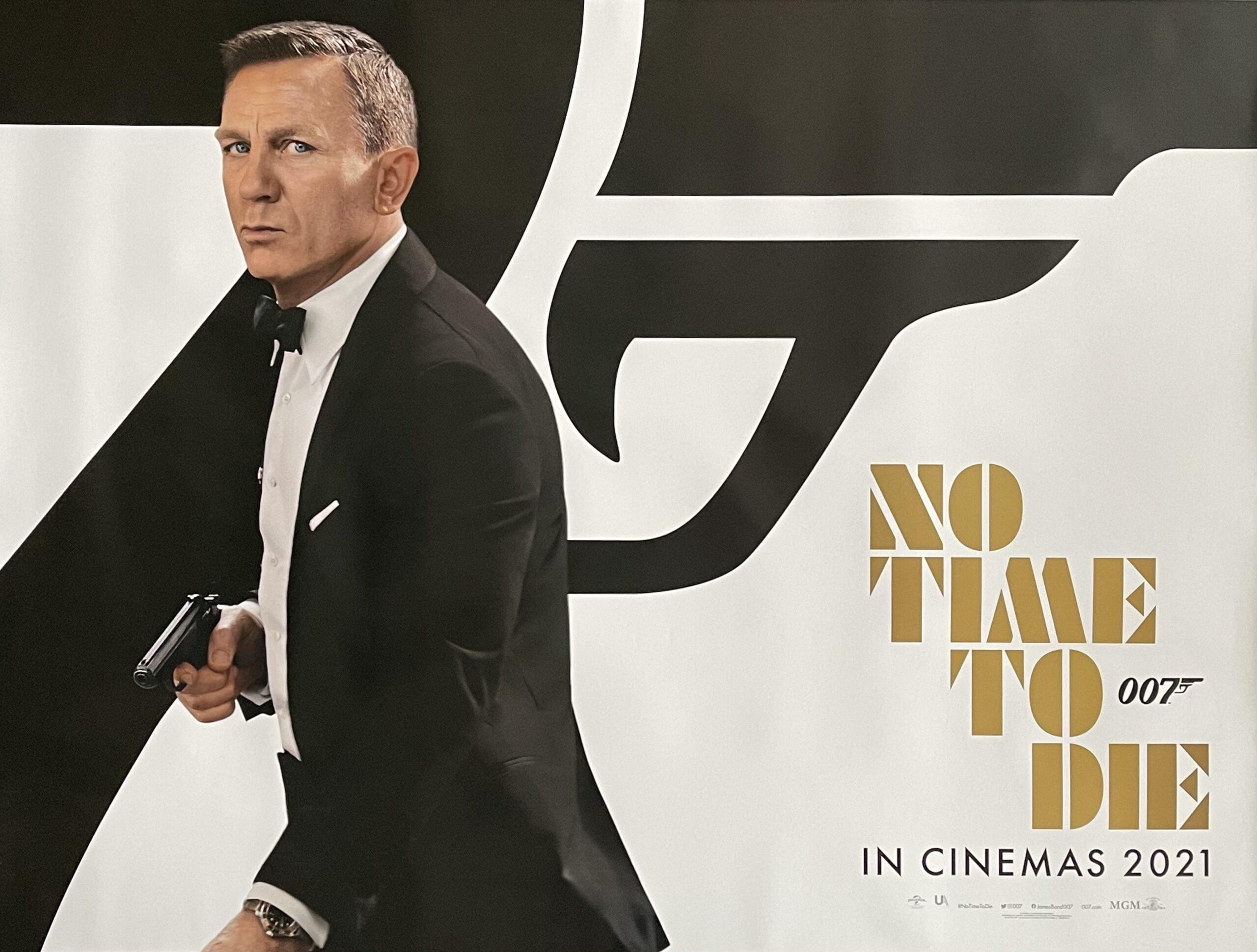 Original James Bond No Time To Die Movie Poster - 007 - Daniel Craig