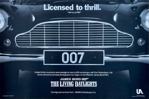 James Bond: The Living Daylights Film Poster